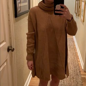 Cozy sweater swing dress